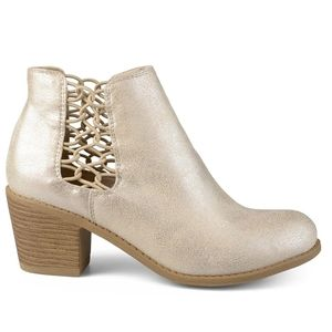 Gold Laced Panel Bootie from Journee Collection